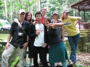Greg (US), Anna (Wales), Nam (Vietnam), Mitchell (US), Jouke (Holland), Nikola (Wales), yours truly. Cameraman- James (Australia)