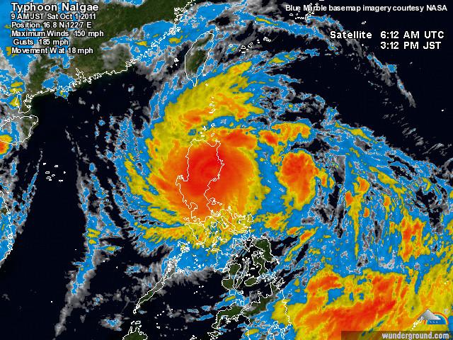 Wunderground Typhoon 2011